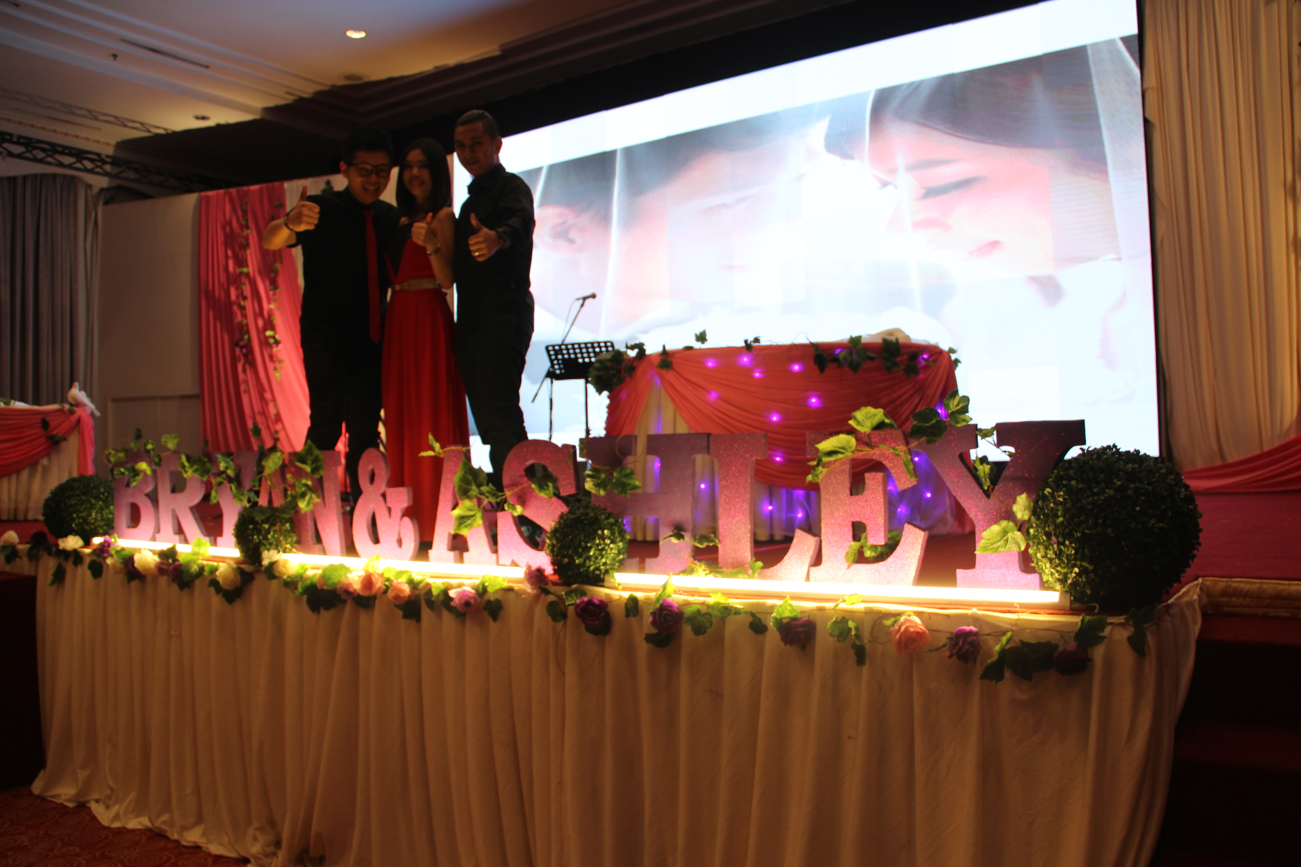 Bryan and Ashley's wedding reception at Ipoh Syuen Hotel